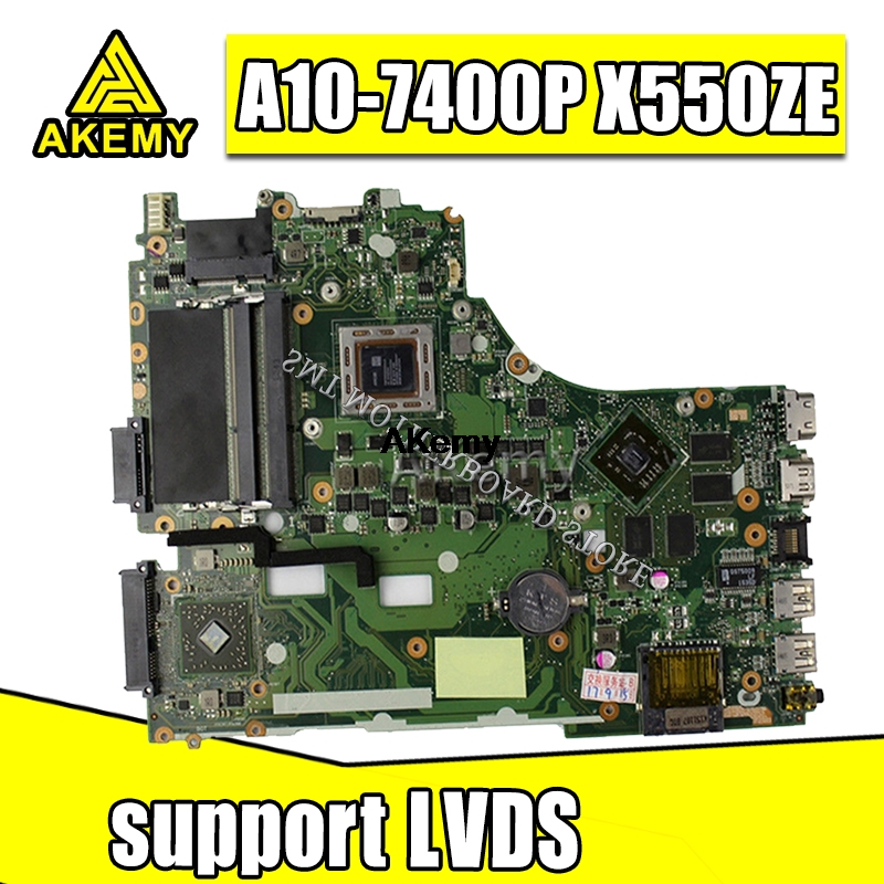 X550ZA Motherboard For Asus K555Z X555Z VM590Z X550ZE Mainboard A10-7400 USA