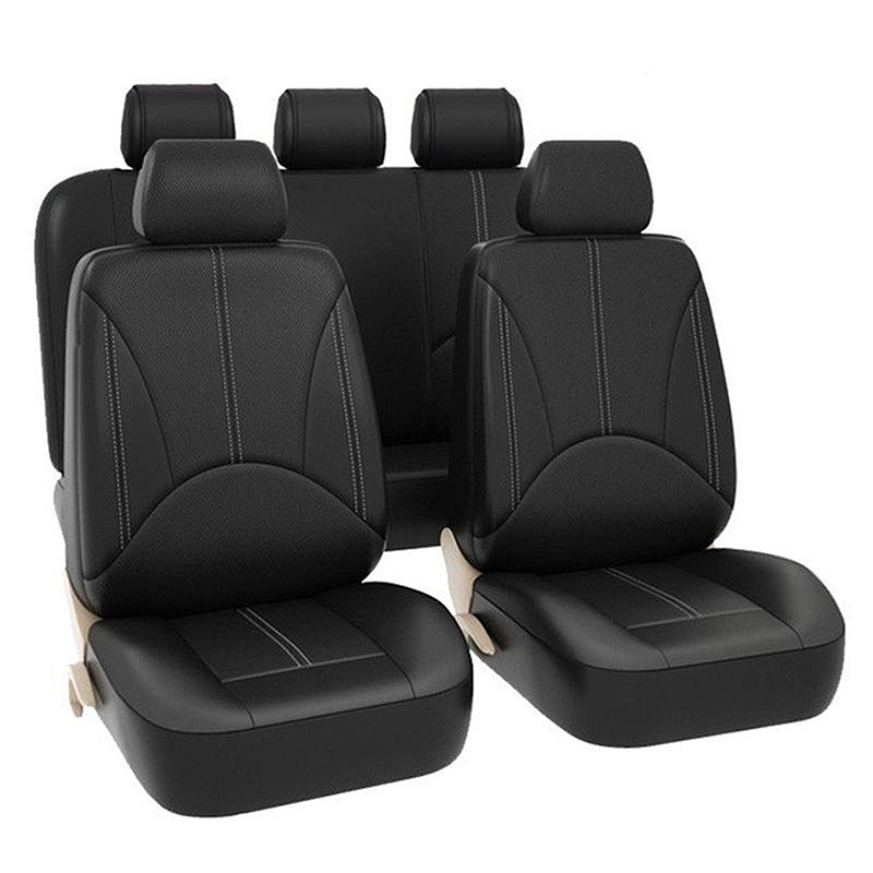 Car Seat Covers Full Set - Premium Faux Leather Automotive Front and Back Seat Protectors for Car Truck SUV