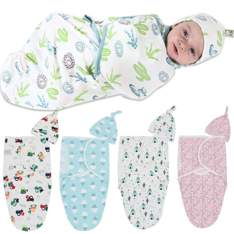 2 шт./компл. детские пеленки подгузник Обёрточная бумага детские тонкие спальный мешок конверты Swaddleme хлопок спальный мешок для