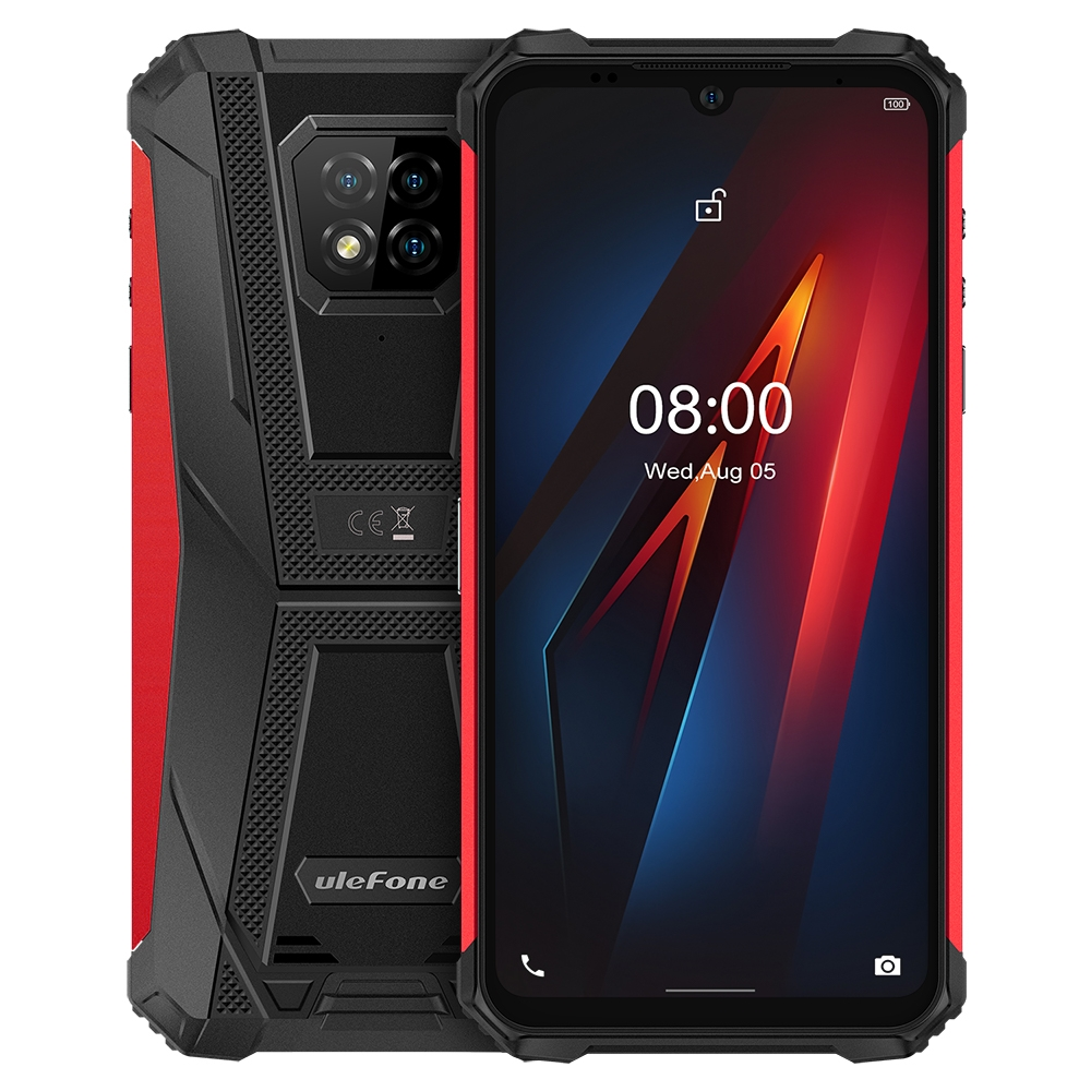 "Ulefone Armor 8 IP68 Rugged Smartphone 4+64GB Waterproof Mobile Phone 6.1"" Screen Android 10 Helio P60 Octa Core NFC 16MP Camera"