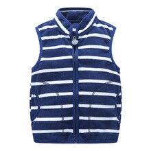 Sweatshirt Stripe Coats Fleece Boys Children Warm And Autumn Spring Vest