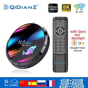 Android 9.0 TV Box H96MAX X3 1000M Amlogic S905X3 8K Dual Wifi BT Netflix Fast Smart TV BOX H96MAX X3 PK HK1MAX H96 a95x