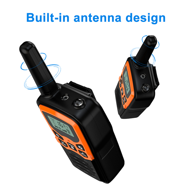 (2pcs) Mini Handheld Walkie Talkie Portable Radio High Power VHF Handheld Two Way Ham Radio Communicator Transceiver рация 5 KM 6