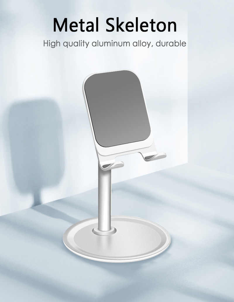 Aluminium Alloy Metal Tablet Stand Universal Holder for IPhone X/8/7/6/5 Plus Samsung Phone/ipad Mobile Phone Holder Stand