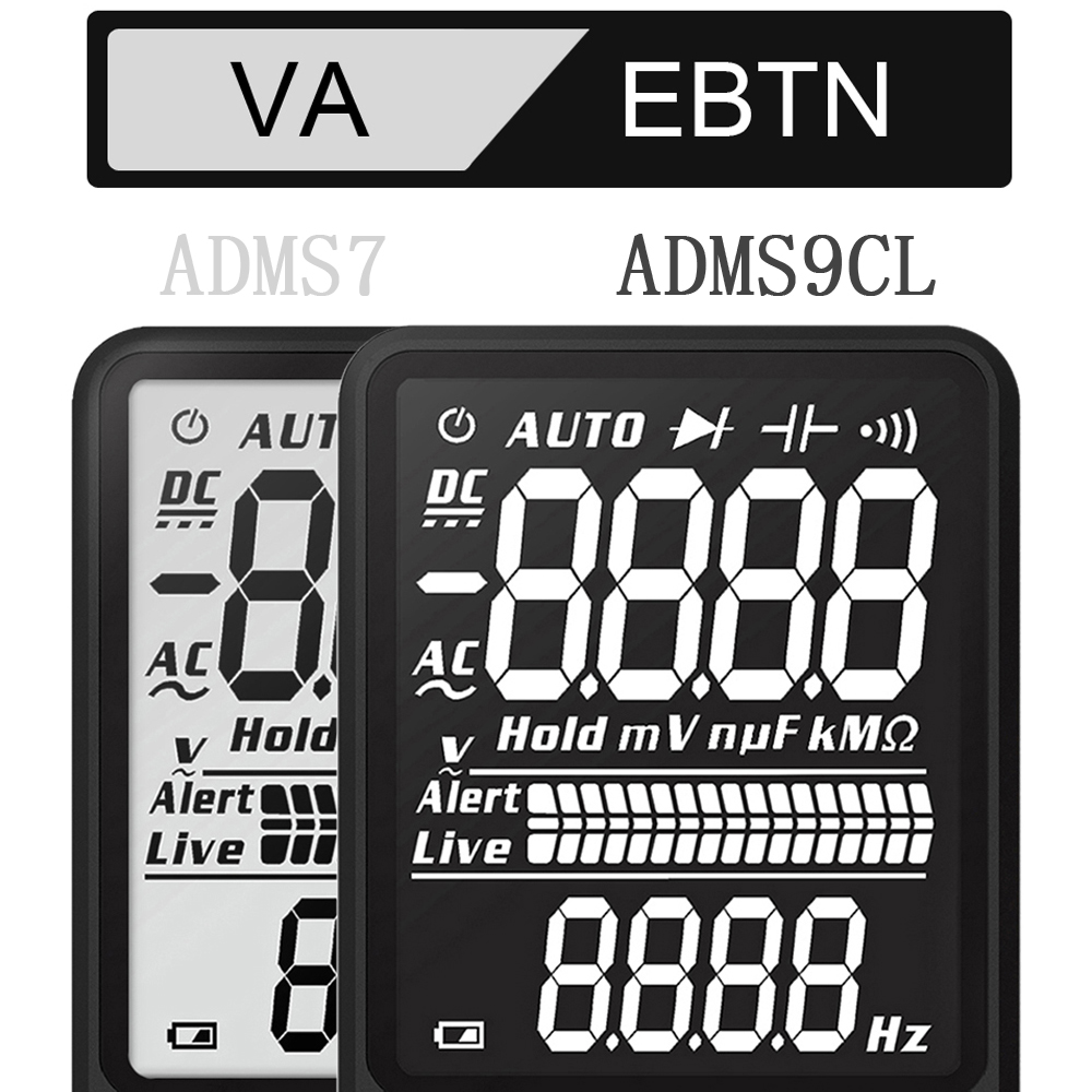 BSIDE ADMS7 S9CL Digital Multimeter with Large 3 Line LCD Display and True RMS for Live Wire Check 5
