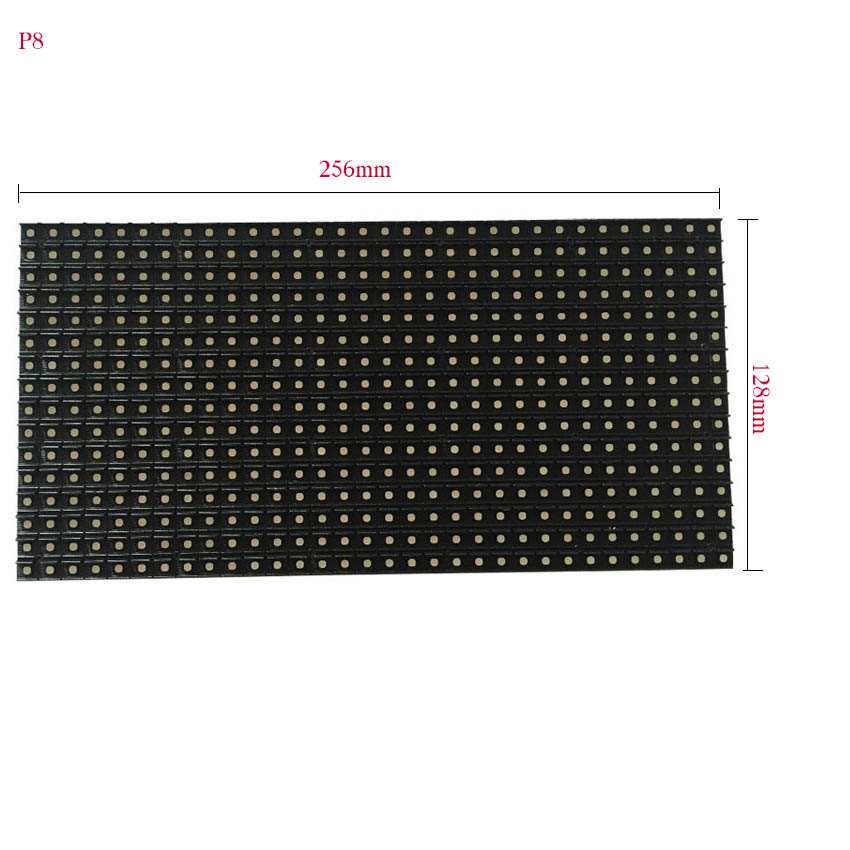China High Quality Led Matrix P8 Outdoor Full Color Led Module 256*128mm, Rgb Led Panel 32*16dots For Led Display Screen