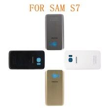 Nowy 10 sztuk darmowa wysyłka S7 tylna pokrywa Tapa do SAMSUNG Galaxy S7 G930F powrót pokrywa baterii obudowa na tył telefonu przypadku