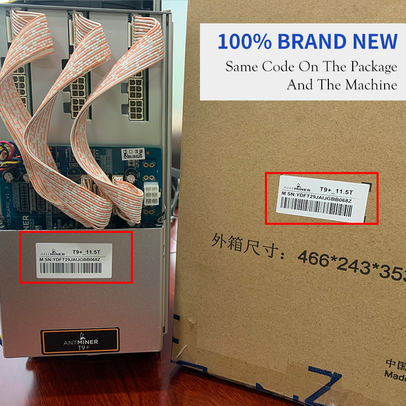 Used Asic BTC Antminer t9+ Bitcoin Miner 10.5T Mining SHA-256 Algorithm 10.5T/hs For a Spower Consumption 1380W T9+ S9K S9 S9J 2
