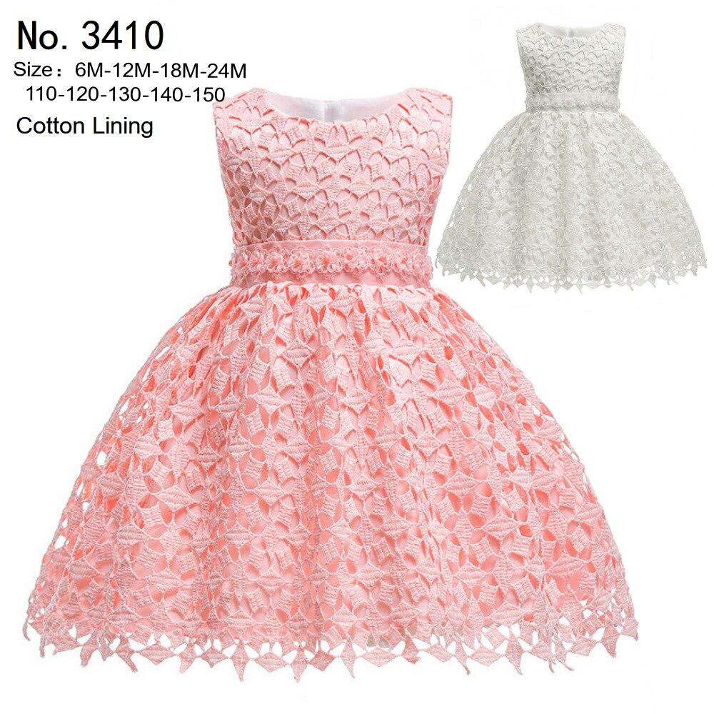 EBay Hot Selling Babies' Dress Lace Pink Princess Dress 2019 New Style Europe And America Children Dress