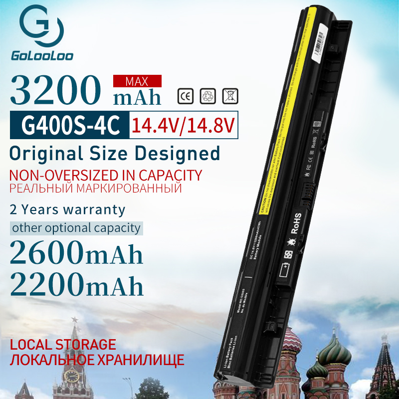 Golooloo 3200mAh New Laptop Battery For Lenovo G400s G405s L12L4A02 L12L4E01 G410s G500s  L12S4A02 L12S4E01 L12M4E01 L12M4A02