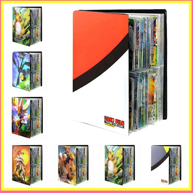 240 Uds. Juego Pokemon tarjetas álbum libro dibujos animados Anime tarjeta DIY coleccionistas cargado lista titular capacidad carpeta juguetes para niños