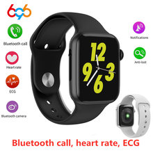 W34 Bluetooth Smart Watch Fitness Tracker Women Dial Call Watch ECG Heart Rate Monitor Smartwatch for Men Wristband Bracelet(China)