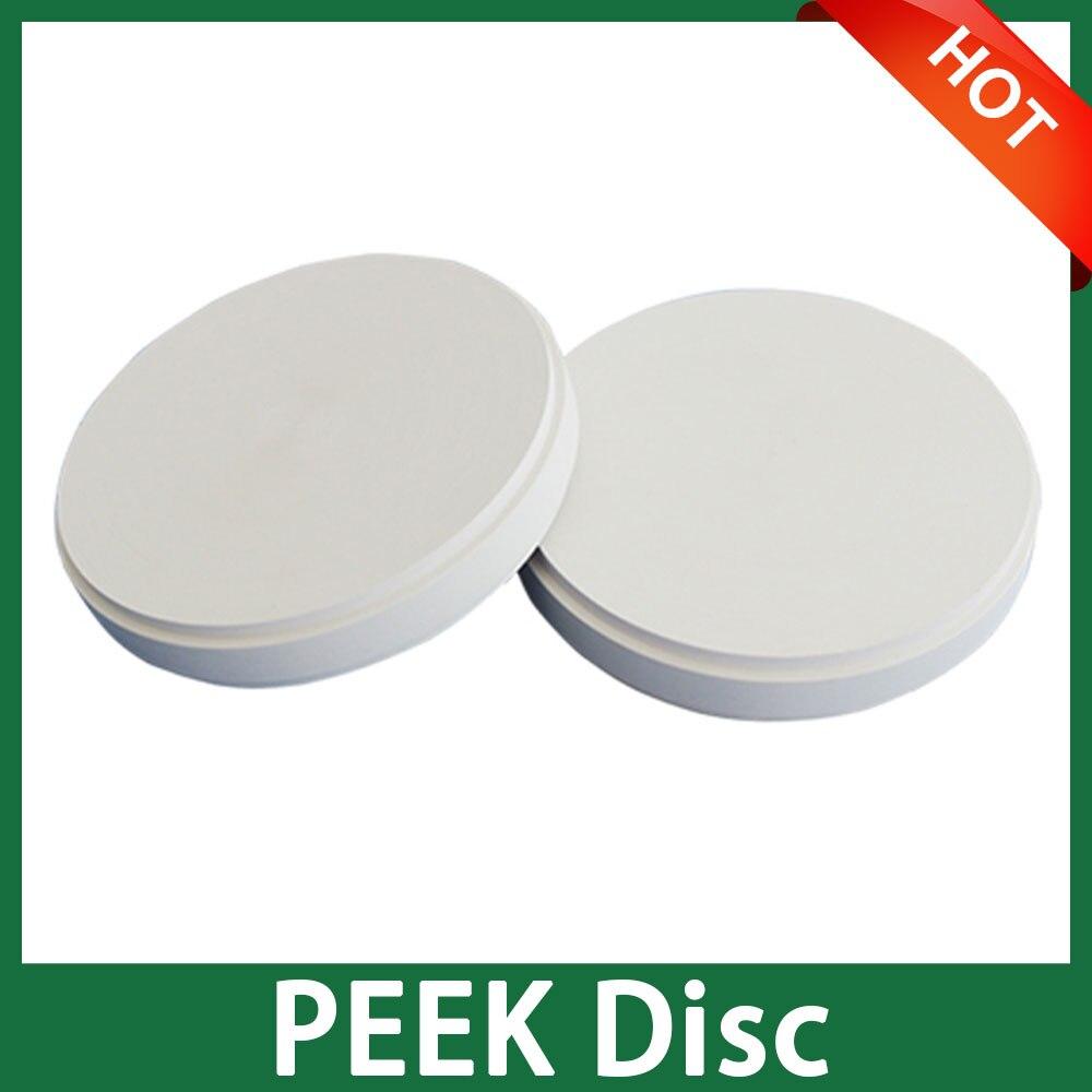 Disque de PEEK de laboratoire dentaire de couleur blanche pour les Machines de CADCAM du système ouvert 98mm