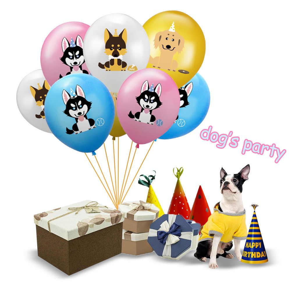 חיות מחמד כלב מסיבת בלון אספקת כלב נושא באנר Paw הדפסת לטקס בלון 'חיות לטובת יום הולדת