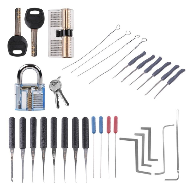 Locksmith Supplies Hand Tools Lock Pick Set Row Tension Wrench Tool Broken Key Auto Extractor Remove Hook Hardware Tool image
