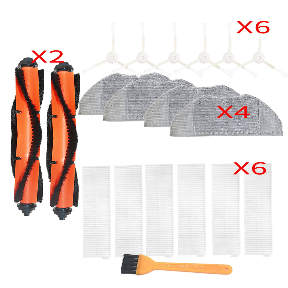 Main Brush Side Brush Filter Dishcloth Set For Xiaomi Mijia G1 MJSTG1 Vacuum Cleaner Home Appliance Parts Replacement