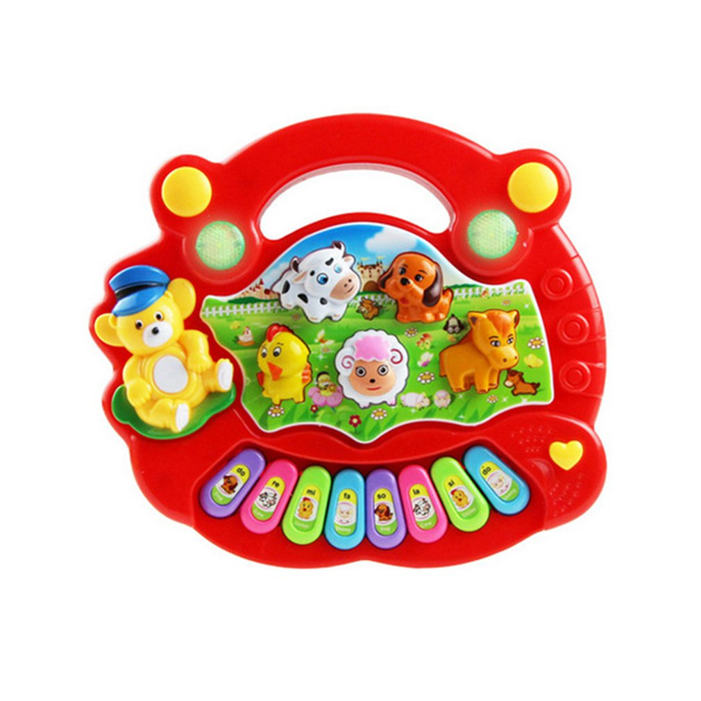 Children's Toys Electronic Organ Animal Farm Musical Instrument Baby Enlightenment Infant And Child Education English