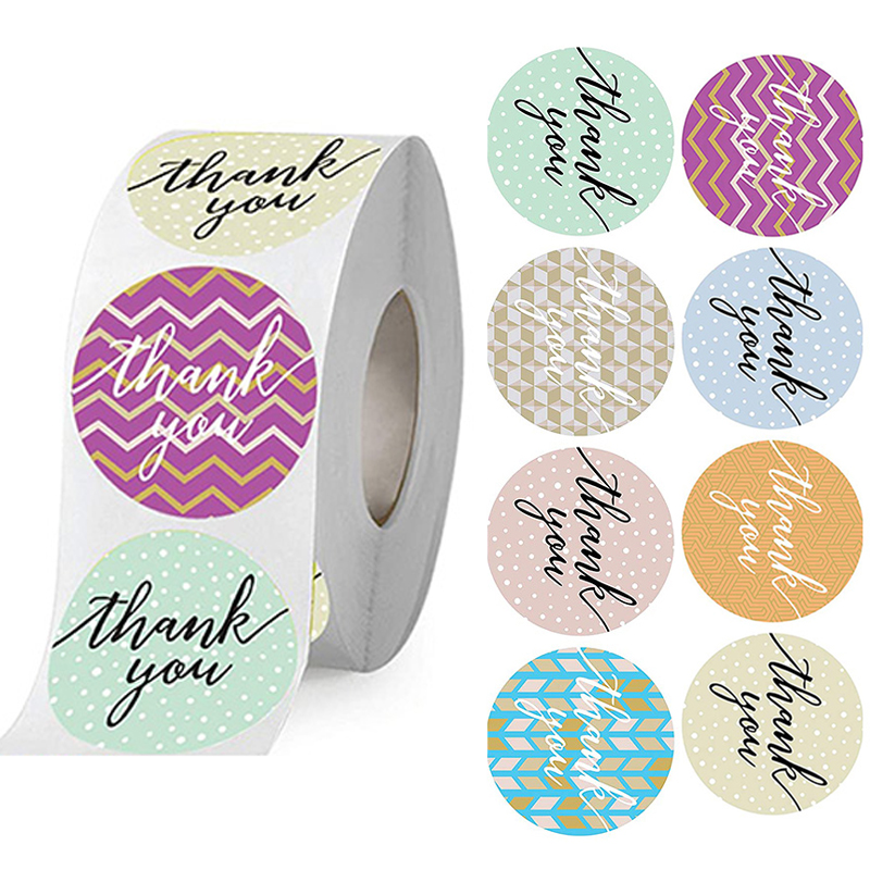 500 Wedding Stickers, Invitations Seals Labels, Candy Favors Gift Boxes Sticker 8 Designs Thank You Labels Customized Extra Cost