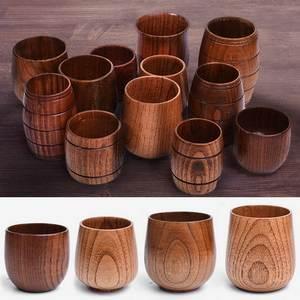 Belly-Cups Drinkware Kitchen-Bar Beer Coffee Milk Handmade Tea Big Wood Spruce Natural