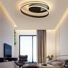 Modern Chandeliers Lamp Deco Surface-Mounted-Lights Bedroom Living-Room Black-Color