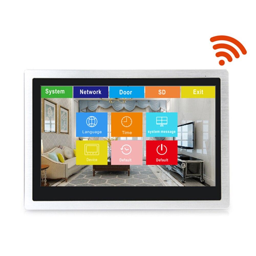 Dragonsview wi fi vídeo campainha com monitor ip sistema de intercomunicação telefone da porta vídeo grande angular da tela toque gravação detecção movimento - 3