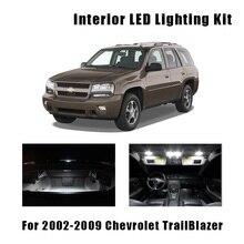 14 лампочек белый светодиодный светильник для салона автомобиля карта двери комплект подходит для 2002-2007 2008 2009 Chevrolet TrailBlazer потолочный багажник номерной фонарь