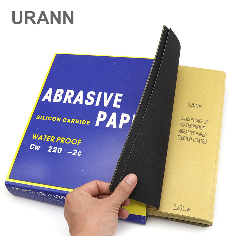 URANN 1Pcs Grit 60-2000 Waterproof Sanding Paper Polishing Sanding Wet/dry Abrasive Sandpaper Paper Sheets Surface Finishing