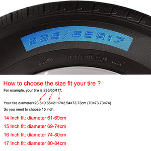 "Image 3 - 14"" 15"" 16"" Inch Heavy Duty PVC Leather Spare Tire Wheel Cover Case Pouch Protector Bag For Suzuki Grand Vitara Jimny"