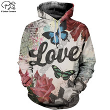 Plstar cosmos 3dprint animal borboleta amor newfashion unisex homem/mulher harajuku streetwear engraçado hoodies/moletom/zip a19