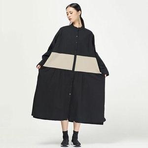 Image 3 - XITAO קפלים להיט צבע Midi שמלת נשים מקורי עצמאי עיצוב יחיד שד אלגנטי טלאי אלת מאוורר שמלת WQR1642