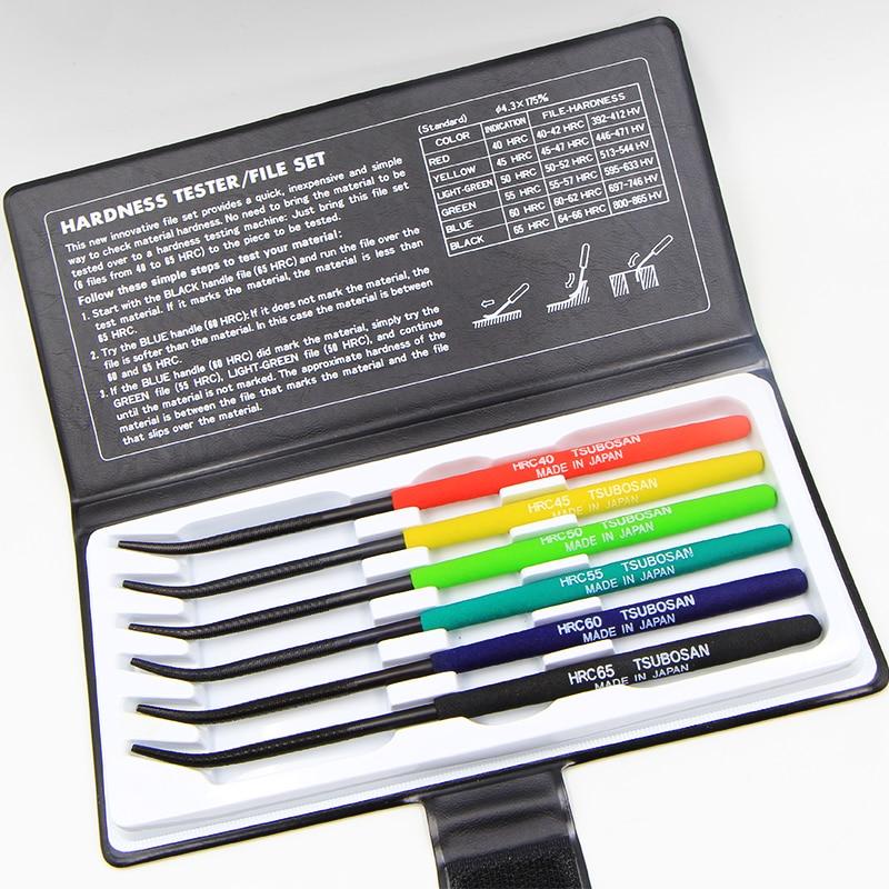 6pcs/set Hardness Tester HRC40-65 Test Files TSUBOSAN MA00600 Made In Japan