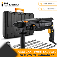 Rotary-Hammer Power-Drill Electric GJ181 DEKO 220V 26mm AC with BMC And 5pcs-Accessories