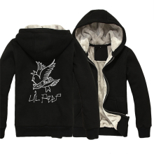 Lil Peep Cry Baby Man Boy Parkas Full Zip Coat Plus Velvet Autumn Winter Couple Clothes ZIIART