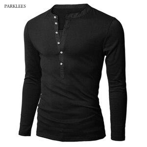 Image 1 - חדש מגמת שחור פולו חולצת גברים פולו Homme 2016 סתיו האופנה Mens Slim Fit ארוך שרוול הנלי חולצה מזדמן כותנה polos Xxl