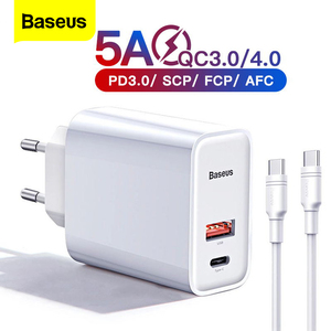 Image 1 - Baseus Quick Charge 4.0 3.0 Usb Charger Voor Iphone 11 Pro Max Samsung Huawei Scp QC4.0 QC3.0 Qc C Pd snelle Mobiele Telefoon Oplader