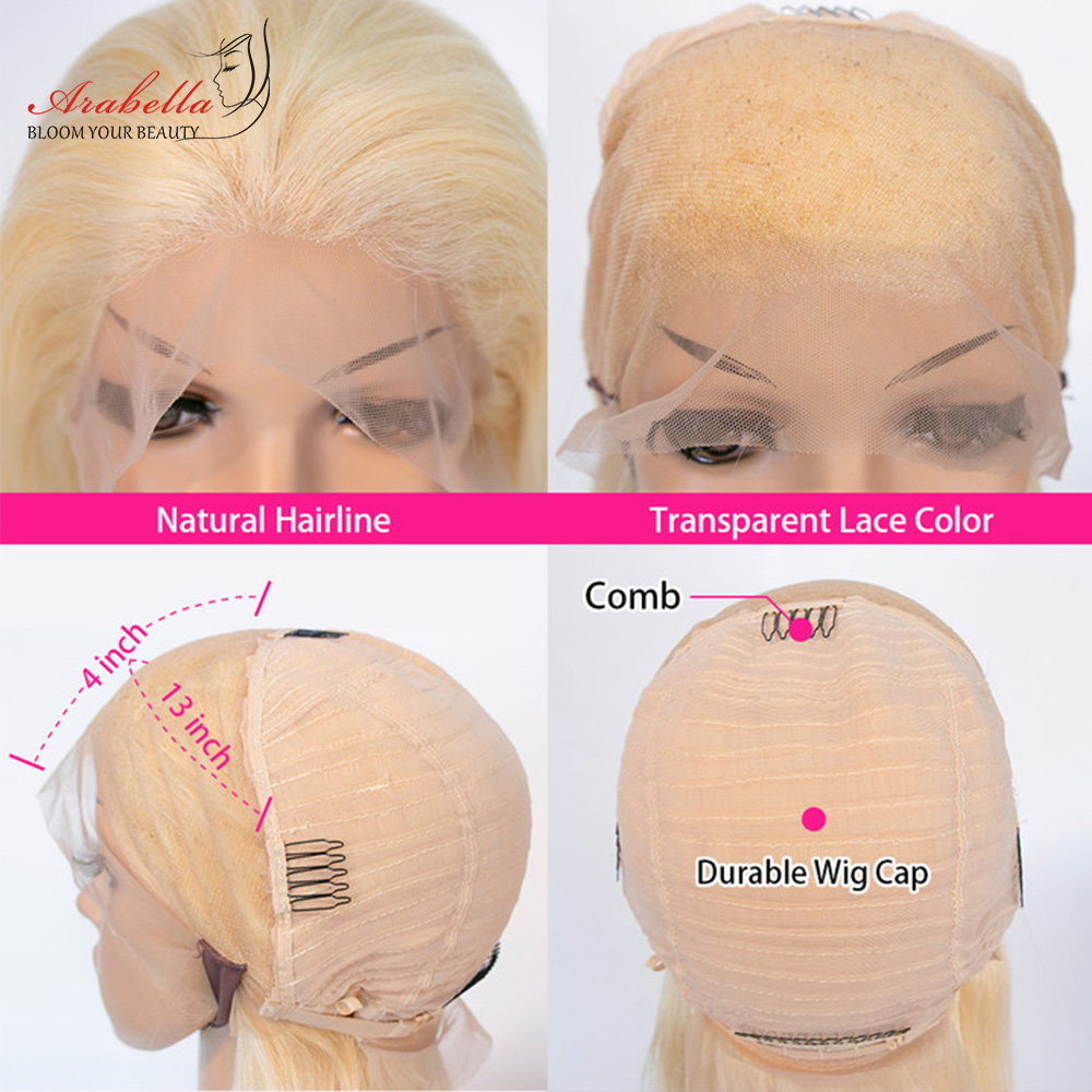 Blonde Lace Front Wig Body Wave 100%  Wigs 13x4 Lace Frontal Wig Arabella  Hair 613 Bob Lace Front 6