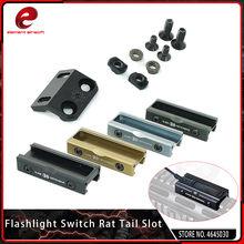 Elemento airsoft tático peq15 scout luz rat cauda slot interruptor almofada guia rm45 offset montagem para surefir m300a m600c peq laser