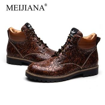 Boots retro  Men's British Tooling shoes fashion New Tide shoes trend MeiJiaNa Men's martin Men's shoes Men's boots  2019