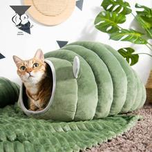 3 вида стилей складная кровать для кошек, зимний плюшевый домик для домашних собак, питомник, коврик для маленьких собак, теплый спальный меш...