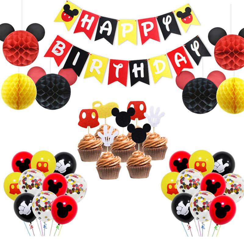 Marvelous Mickey Mouse First Birthday Banner Handmade 1St Birthday Party Funny Birthday Cards Online Necthendildamsfinfo
