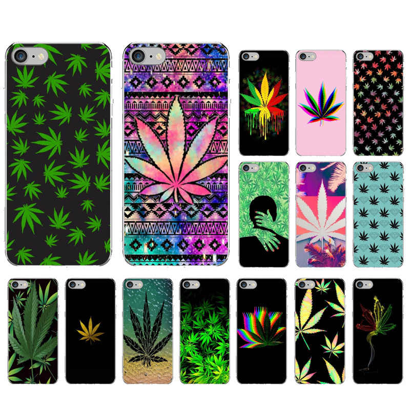 Yinuoda Art Hoge Weed Zachte Siliconen TPU Telefoon Cover voor iPhone X XS MAX 6 6s 7 7plus 8 8Plus 5 5S SE XR 11 pro max