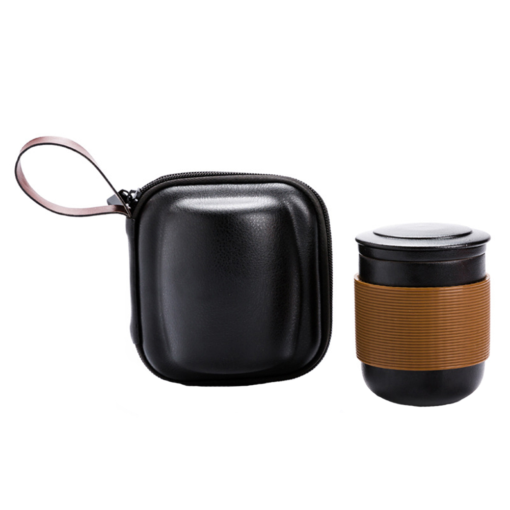 Coffee Strainer Ceramic Portable Travel Tea Set Drinkware Office Insulation Water With Lid Home Gift Bag Filter Teapot