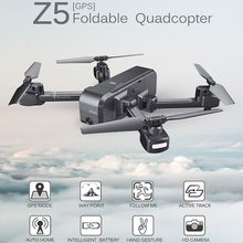 SJRC Z5 Wifi FPV With Wide Angle HD Camera High Hold Mode1080P Camera Double GPS Follow RC Quadcopter Drone VS Visuo XS812 XS809(China)