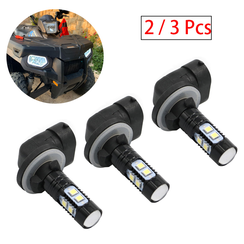 2/3 Pcs 50w Per Bulb Upper Headlight Bulb Rack Mounted Headlights For POLARIS  ACE 150 500 570 900 HAWKEYE MAGNUM RANGER RZR