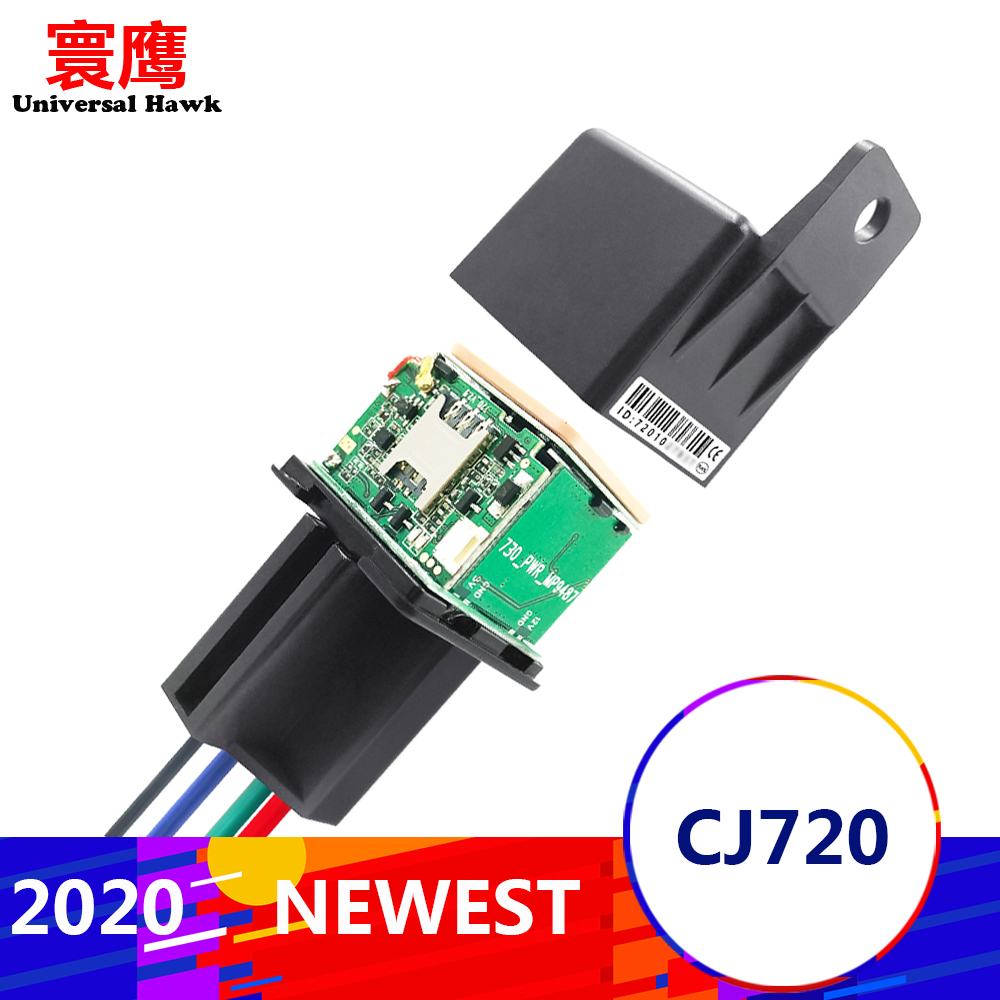 Nuevo CJ720 mejor seguimiento de relé de coche GPS Tracker dispositivo GSM localizador Control remoto Anti-robo monitoreo cortar el sistema de alimentación de aceite