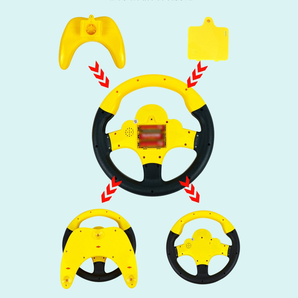Simulation Steering Wheel Neutral Plastic Co-Pilot Steering Wheel Children'S Early Childhood Educational Toys 1Pcs