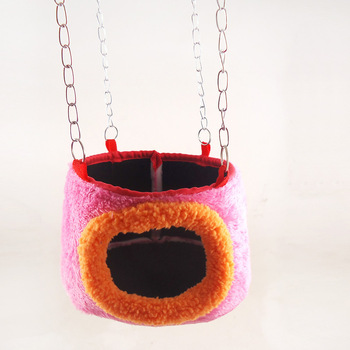 Color Random Cotton Small Pet Squirrel Parrot Sugar Glider Hanging Cage Swing Hamster Sling Chain Bed House Hedgehog Nest Toy
