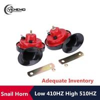 Vehemo Universal 135DB Schnecke Horn Sirene 12V Dual Tone Auto Elektrische Laut Air Horn Sound Signal Nützlich für Auto auto
