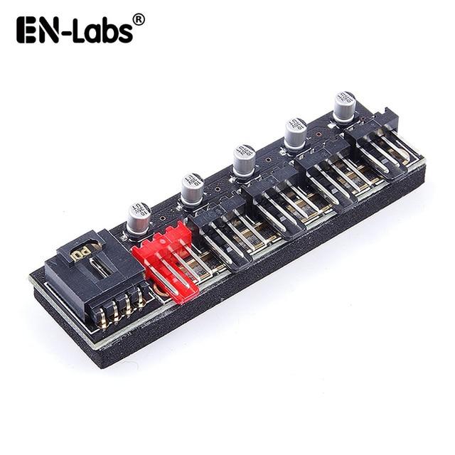 Molex 4pin PWM wentylator do komputera Hub moc dostaw przedłużacz splittera, 5 port 10 kanał 4 pin rozdzielacz mocy, do tyłu 3 złącze pinowe