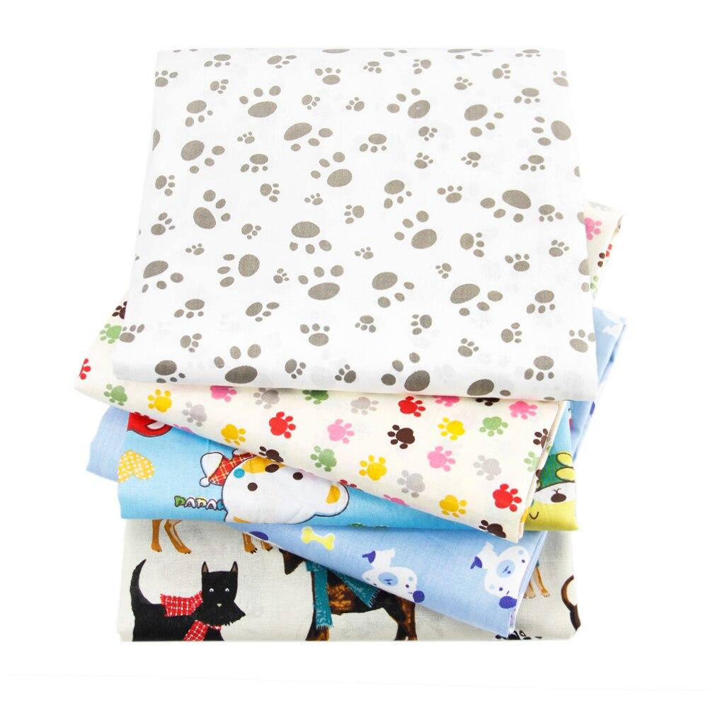 50*145 centimetri animale cane footprint stampato 100 per cento del tessuto di cotone per Bambini Biancheria Da Letto tessile domestica per il Cucito tilda Bambola, c767